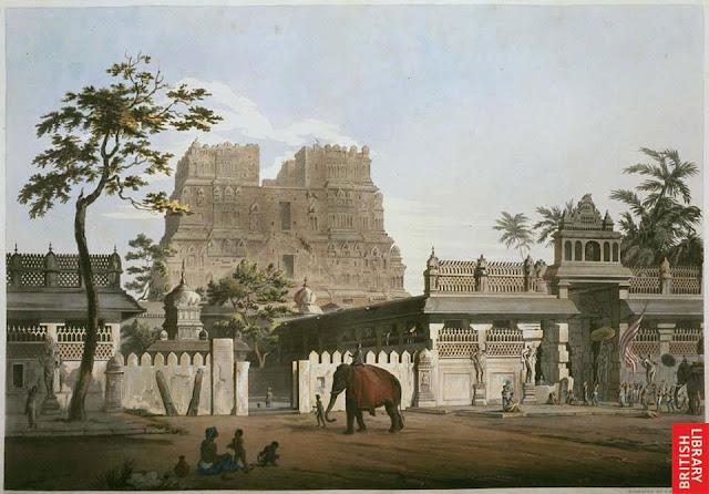 ராமேஸ்வரம் -பழைய படங்கள் Rameswaram+temple+art+in+1809
