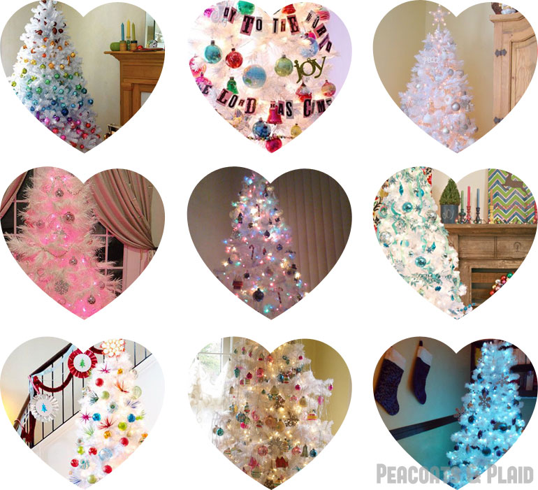 white christmas tree decoration round up