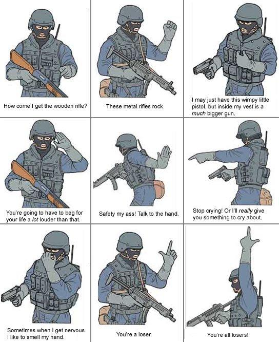 SWAT Solider Humor Act funny pic