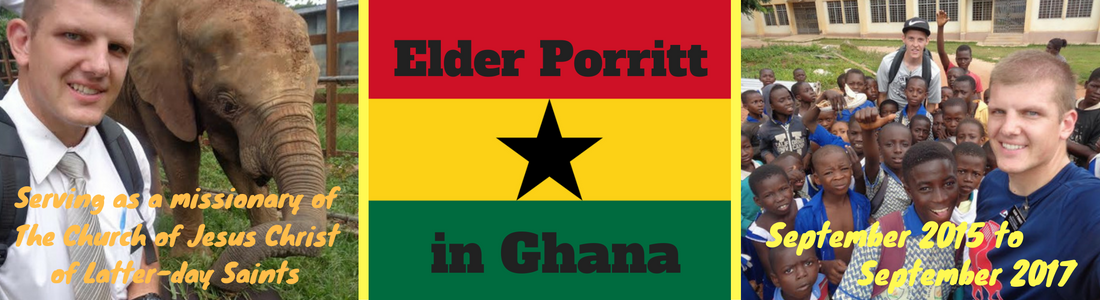Elder Porritt in Ghana