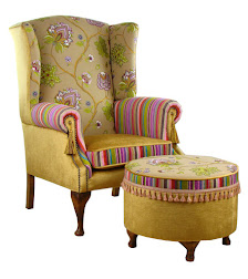 Poltrona inglese McKanzie Gold Patchwork COLLINS & COOPER
