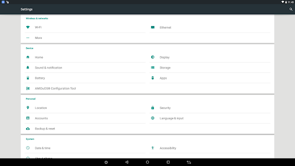 Android Lolipop 5.1 Dengan AMIDuOS Pro 2.0 di Windows