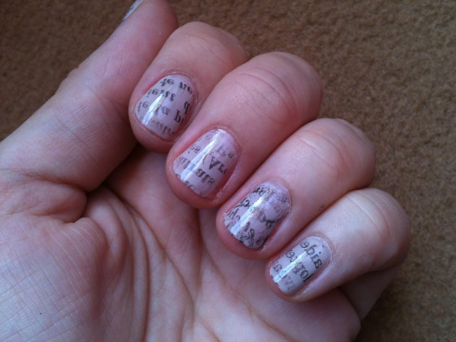 "TheWaveOfBeauty: Tuto: Nail-Art "" Papier Journal """