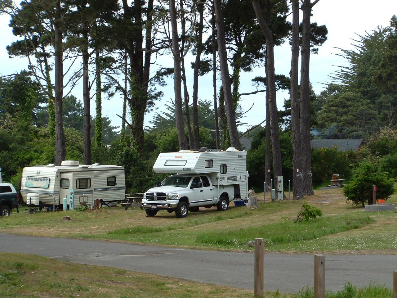 Hidden Pines RV Park Campground - Fort Bragg California ...