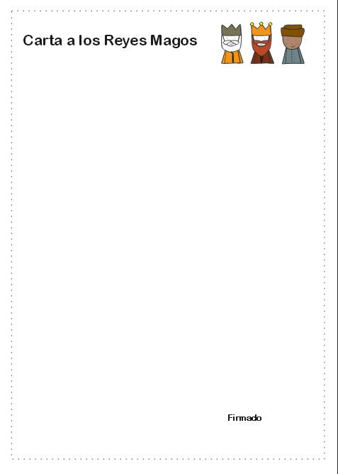 carta reyes magos pdf