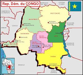 Carte de La Rep Dem du CONGO Kinshasa