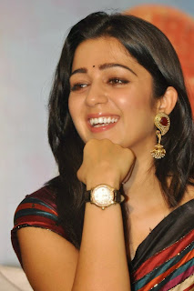 Charmi Kaur in Saree at Jyothi Lakshimi First Look Launch