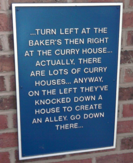 Sign: Turn Left At The Baker's