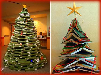 El rinc n de leyna rbol de navidad con libros - Arbol de navidad con libros ...
