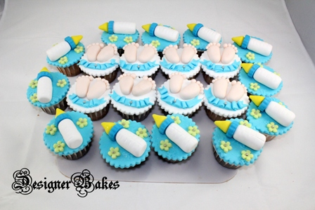 What we have here are the Baby Feet & Bottles Cupcakes