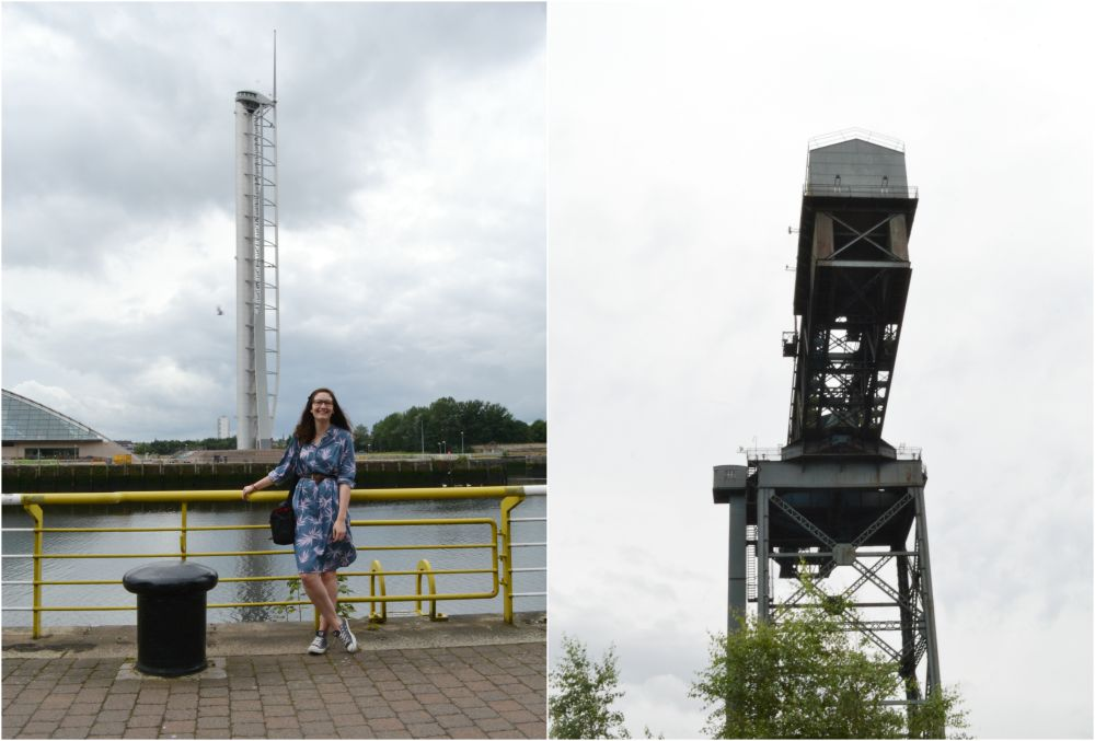 clyde river walk crane tower glasgow