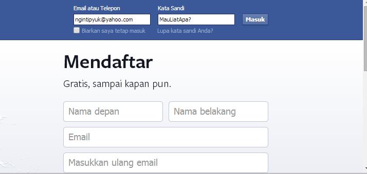 Cara Mengetahui Password Facebook Berbentuk Bulat