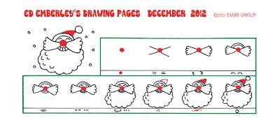 Ed Emberley's Santa Face Drawing Page