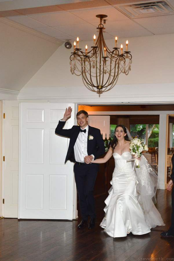 Bride and Groom enter their Reception - Three Village Inn Stony Brook