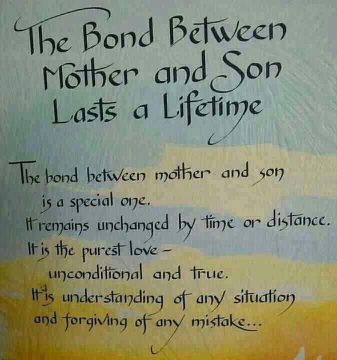 Life quotes and sayings bond between mother and son last for The bond between mother and daughter