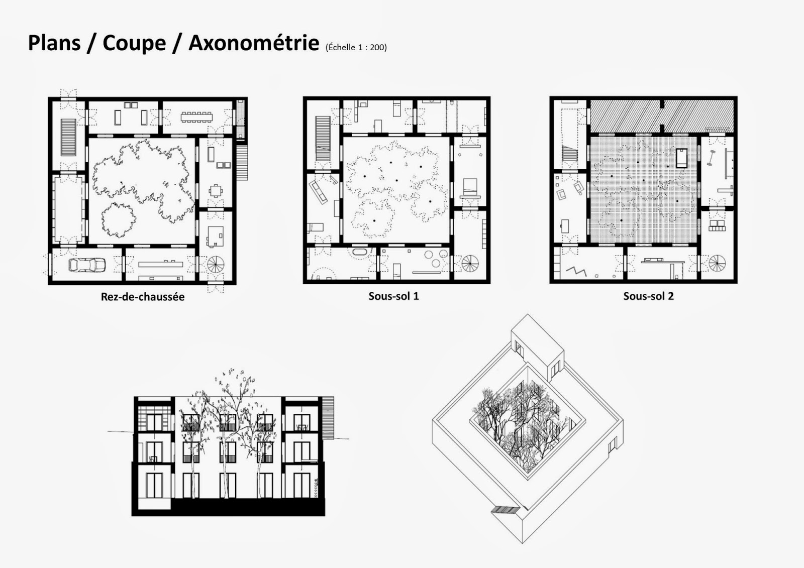 plan maison patio amazing incroyable plan de maison avec patio maison bois de plain pied avec. Black Bedroom Furniture Sets. Home Design Ideas