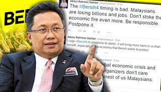 Bersih 4.0 akan menyebabkan RM merudum-Rahman Dahlan