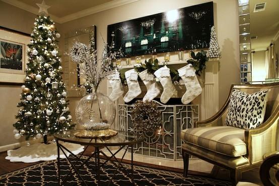 decoracao de arvore de natal azul e prata: de natal até os pequenos enfeites, como sapatinhos, papai noel etc