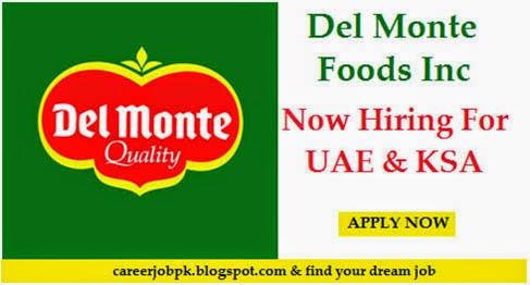 Jobs in Del Monte Foods Company UAE & KSA