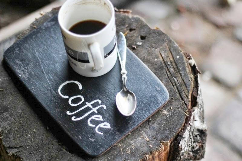 Coffee, Tea, Czarna podkładka