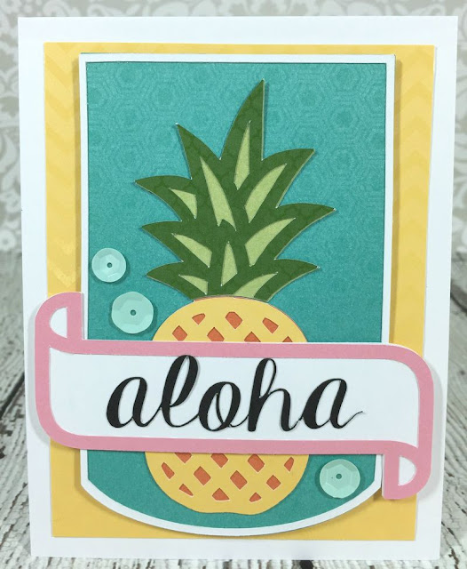 Cricut Artistry Aloha Pineapple card