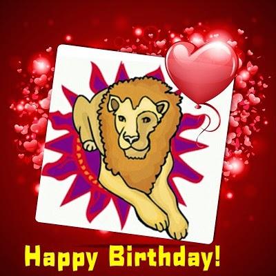 happy birthday card lion