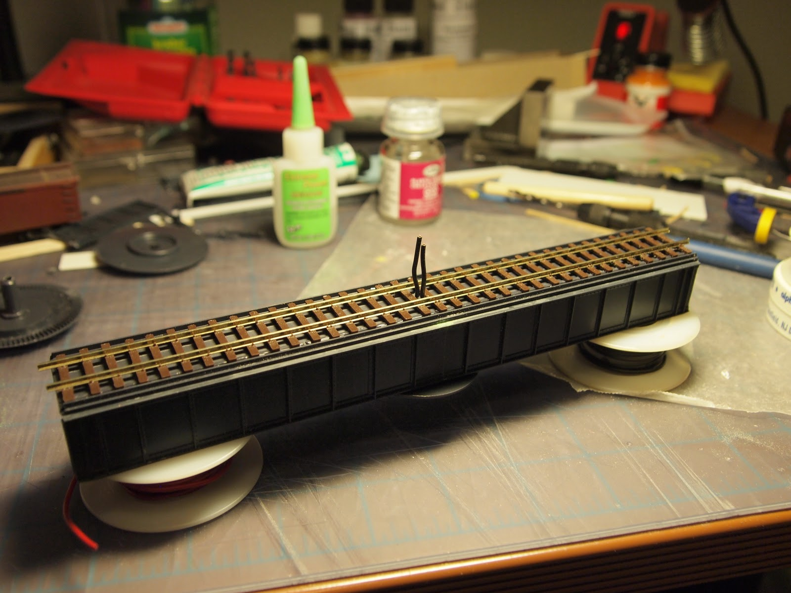 A Second Hon3 Turntable Some Railroad Youve Never Heard Of Dcc Ho Scale Turntables Wiring Diagrams I Left Rail Over Hanging On The End Bridge As Ill Cut This Down To Perfect Size When Im Installing Layout