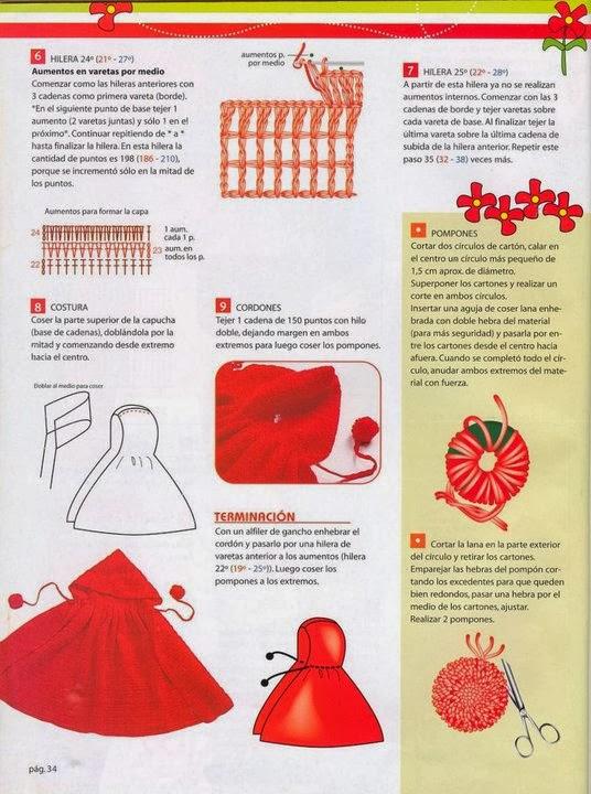 MIS COSAS A CROCHET: Capa Roja como Caperucita
