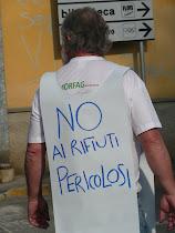 manifestazione contro l'impianto Stucchi di Cambiago