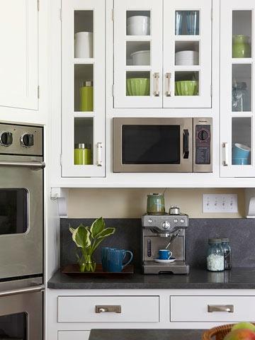 7 sitios donde colocar el microondas kansei cocinas - Donde colocar tv en cocina ...
