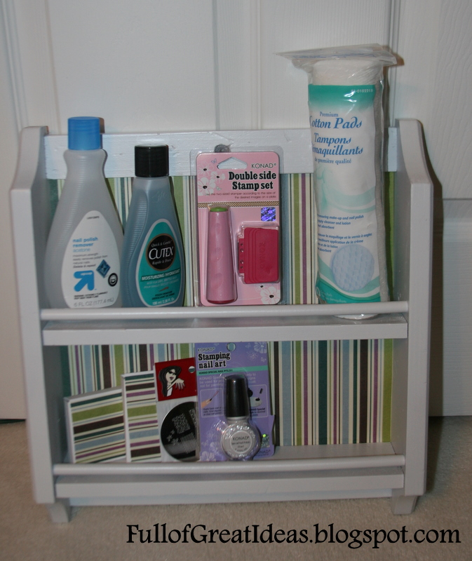 Nail polish stand and stamping tool - Preteen/Teen gift idea