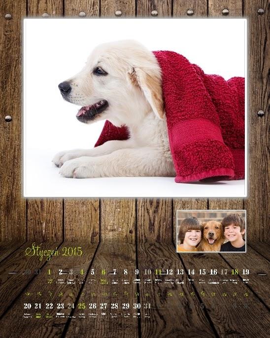 """Foto kalendarz A4 """"Drewno"""""""