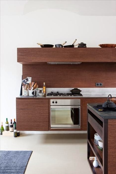 Arquitectura de Casas: 14 fotos de cocinas montadas a la pared y un ...