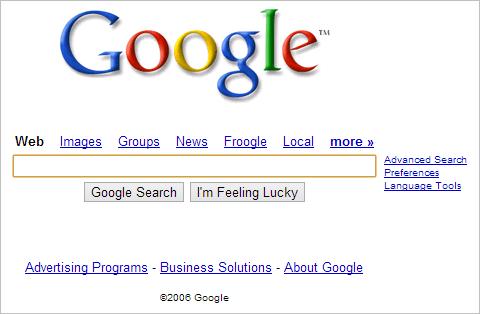 Google-website-in-2006