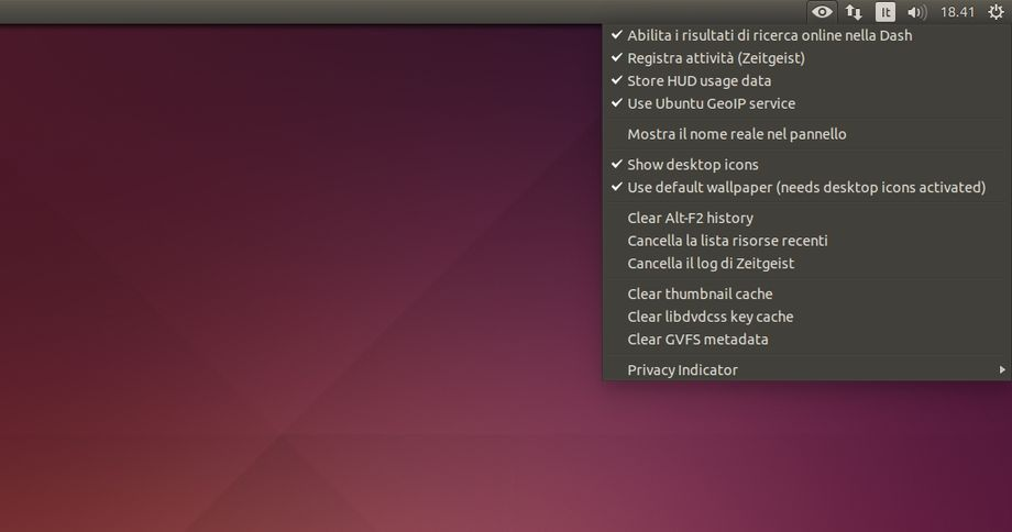Privacy Indicator in Ubuntu
