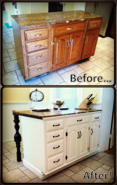 como fazer uma ilha gourmet na cozinha usando uma comoda antiga