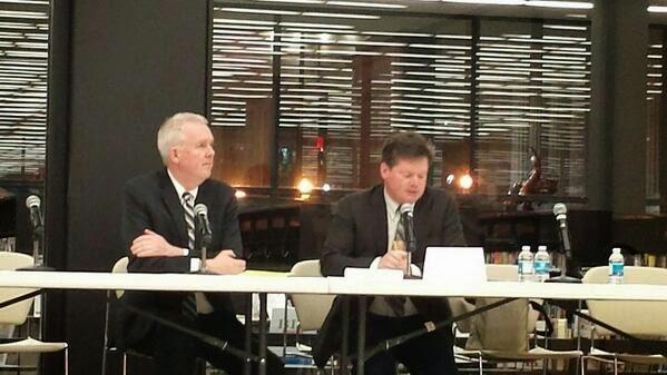 Bruce Majors and Democratic candidate at mayoral debate
