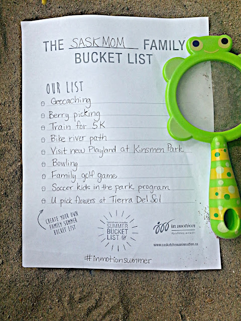 { the saskmom family bucket list give-away }