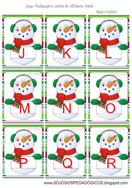 Flash Cards Letras do Alfabeto Natal
