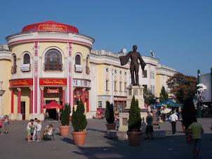 """Madame Tussauds"" at the ""PRATER"" amusement park in Vienna."