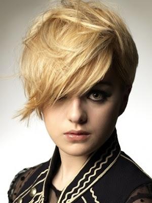 corte cabello corto rubio