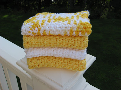 Sunshine Crocheted Cotton Washcloths