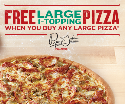 Free online papa johns pizza coupons