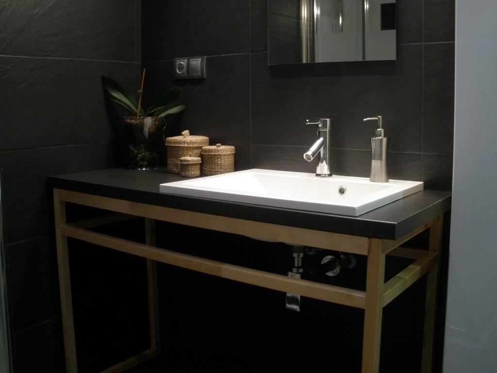 Concurso diy x4duros 39 11 ikea hack el mueble de ba o de - Muebles de lavabo ikea ...