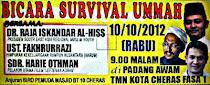 BICARA SURVIVAL UMMAH BERSAMA PIMPINAN NGO ISLAM  DAN SELEBRITI