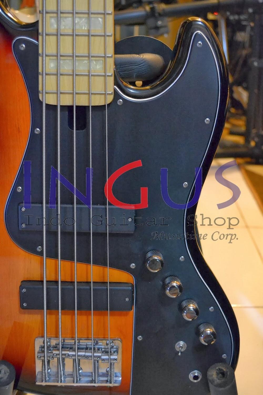 Jual Gitar Fender Bass Sunburn Custom 5strgs