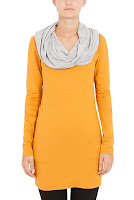 Bluza mustar cu gri din bumbac model D1619 (Ama Fashion)