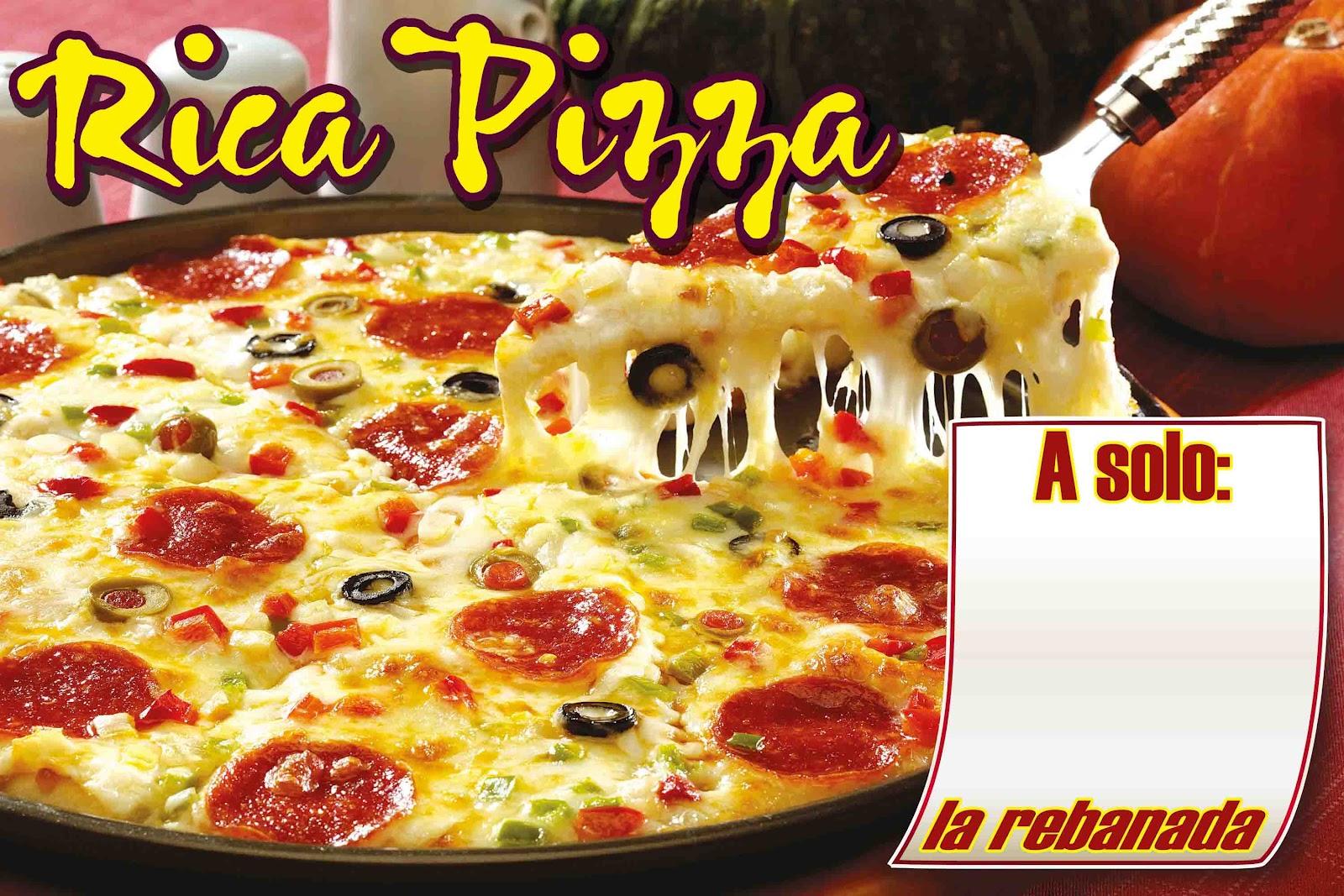 Lona para Pizzeria - Recursos para impresores y diseñadores.