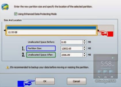 Mengatur besar ruangan memory sd card