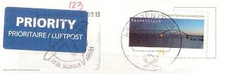 50 Jahre Fehmarnsundbrücke stamp (2013)